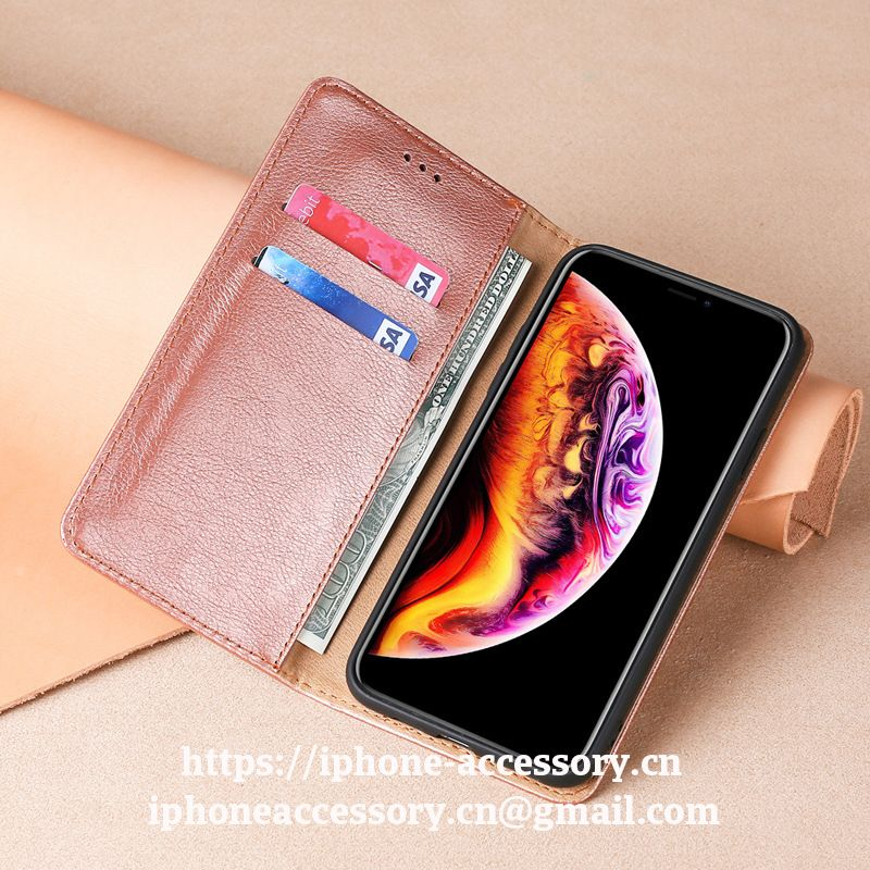 iPhone X 11 pro max leather Case