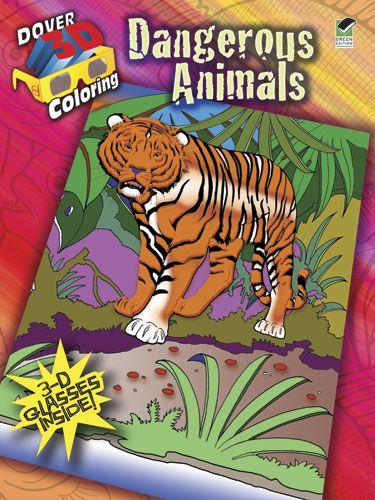 3 D Coloring Book Dangerous Animals
