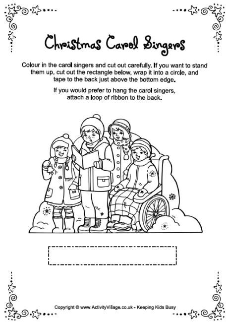 Christmas Carol Singers coloring page from http://www ...