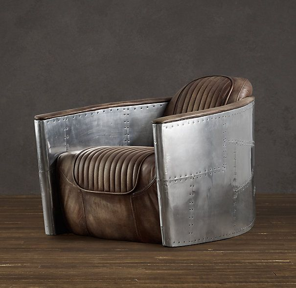 aviator chair with swivel distressed whiskey. i could see this