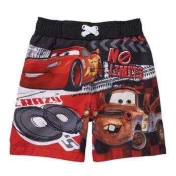 c72ab13940c2f Disney / Pixar Cars Lightning McQueen & Mater Swim Trunks - Baby Boy ...