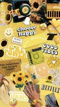 Yellow Aesthetic background - Wallpaper Sun
