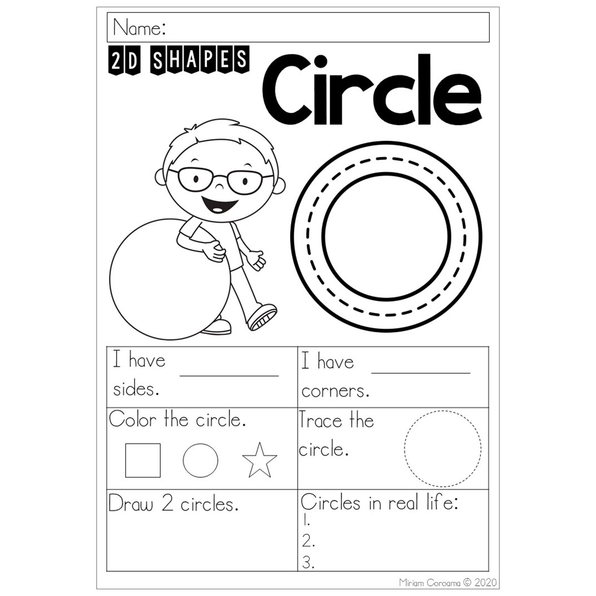 2d Shapes Worksheets In