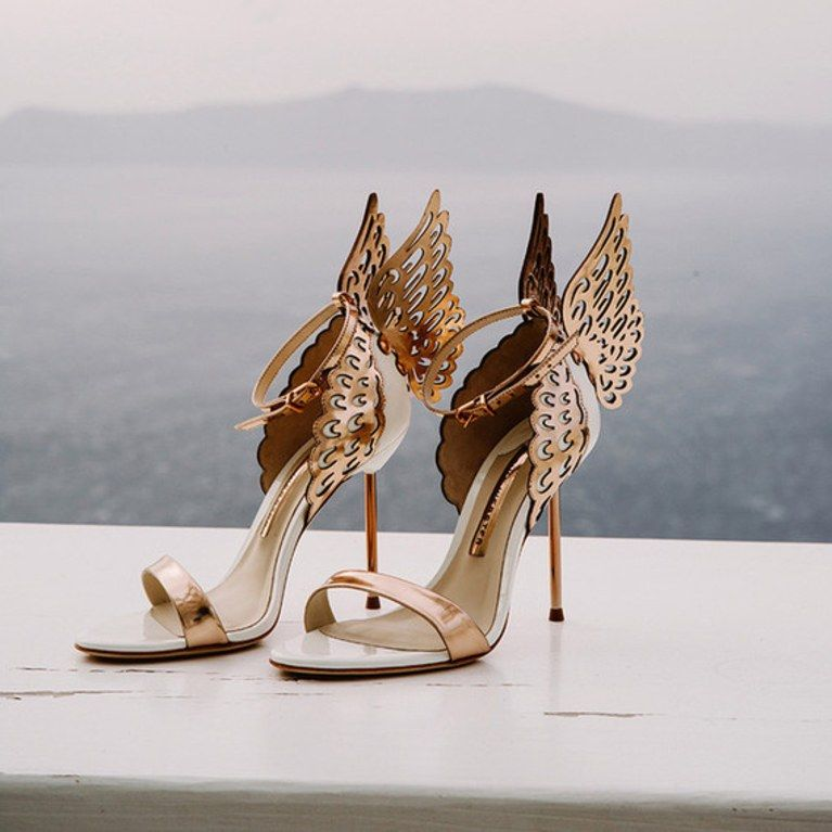 20 Rose Gold Wedding Shoes For Every Bridal Style Gold Wedding Shoes Rose Gold Wedding Shoes Sophia Webster Heels