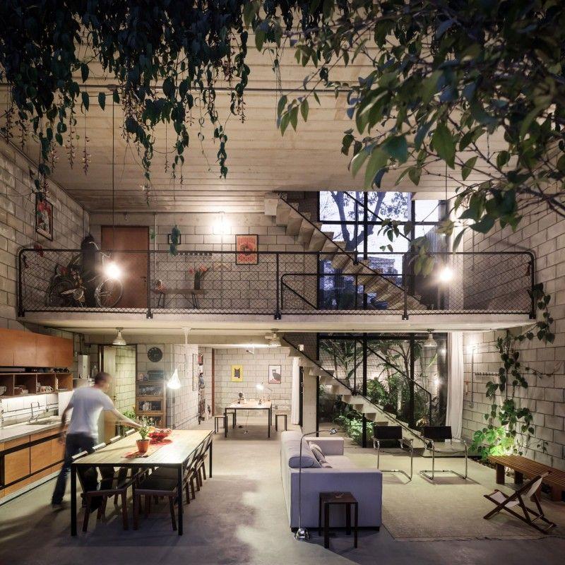 Design Interior Rumah Urban Bergaya Industrial Arsitektur Arsitektur Rumah Arsitektur Modern