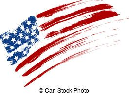 Us Flag Grunge Vector Clipart Illustrations 997