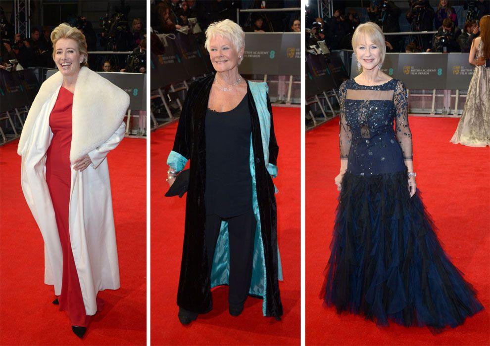 Emma Thompson, Judi Dench y Helen Mirren en los premios Bafta 2014