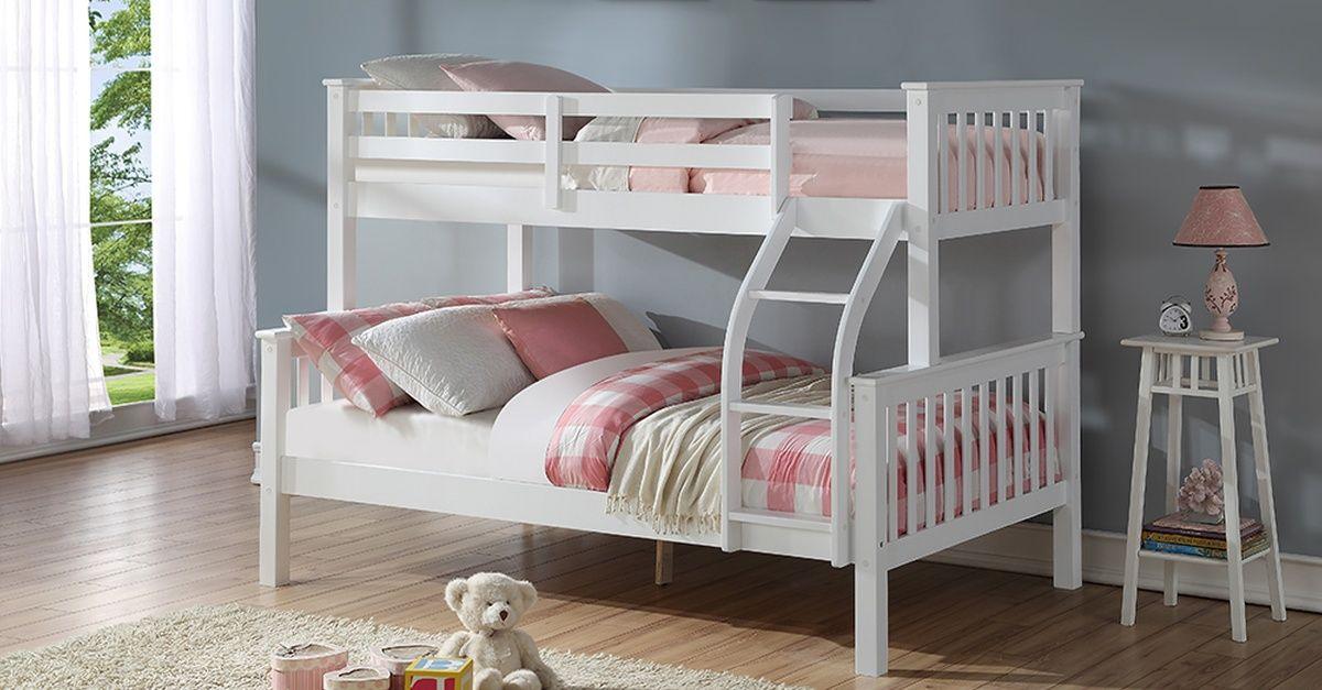 Harmony Triple Sleeper Solid Wood Bunk Bed With Optional Ortho