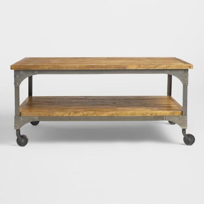 Wood And Metal Aiden Coffee Table V2 Coffee Table Farmhouse