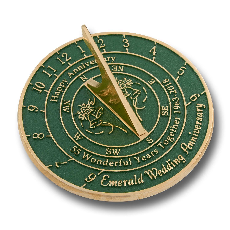 40th Ruby Wedding Anniversary Sundial Gift Unique