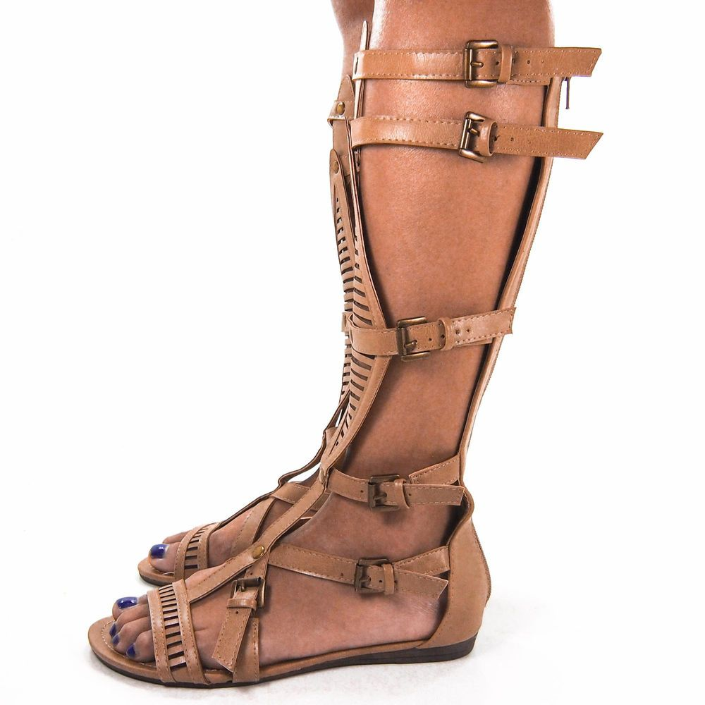 Lory89A Taupe Gladiator Flat Sandal Bird Cage Buckle Women Pumper Shoe New #Bumper #Gladiator