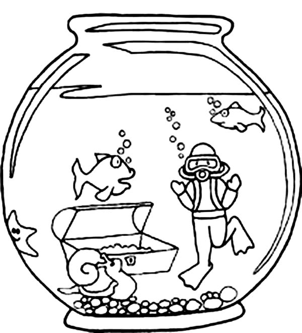 2e4c5f2c1a06a63a57de81b624796bc0 » Goldfish In Tank Coloring Pages