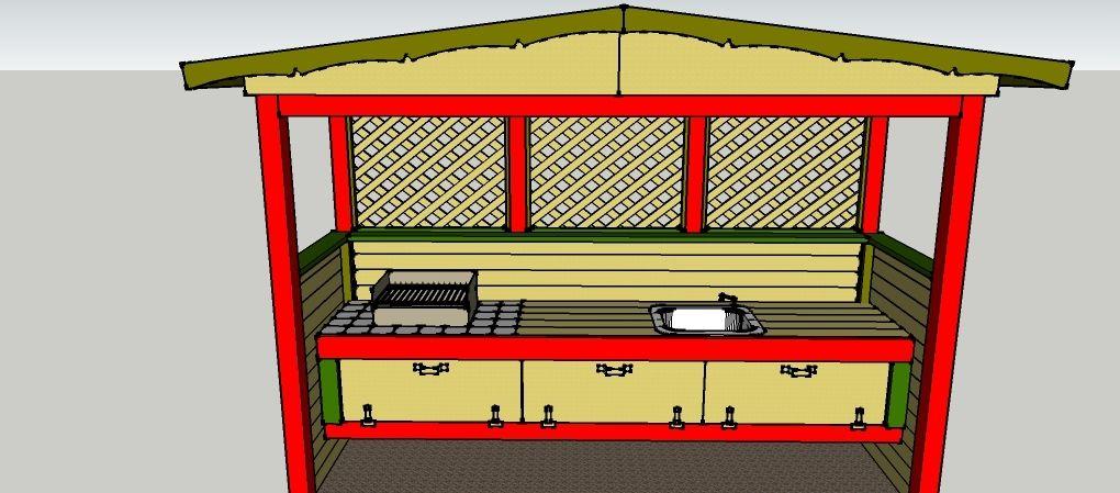 gartenk che zum selber bauen bauanleitungen baupl ne selberbauen bau garten und garten k che. Black Bedroom Furniture Sets. Home Design Ideas