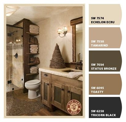 Paint Colors From Chip It By Sherwin Williams More Rustic Bathrooms Rustic Bathroom Decor Rustic Bathroom