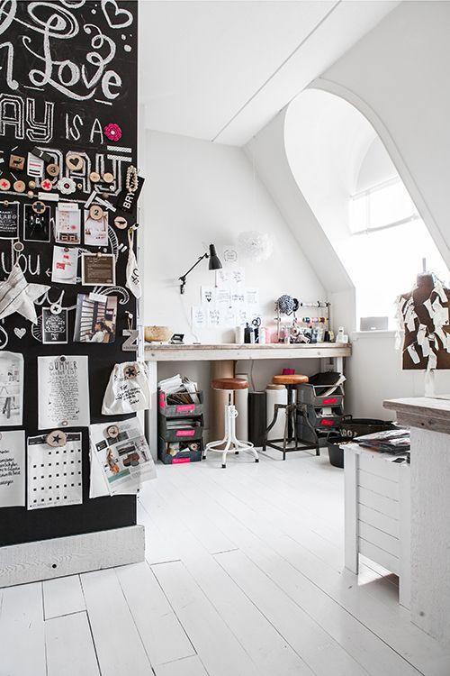 Inspiration  15 bureaux à la maison - Studio Rose Flash bureau