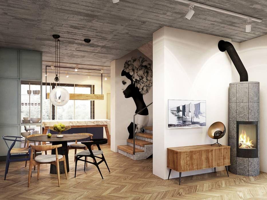 Warszawa Sadyba 130m2 Razoo Architekci Eklektyczna Jadalnia Homify Interior Design Home Decor Interior