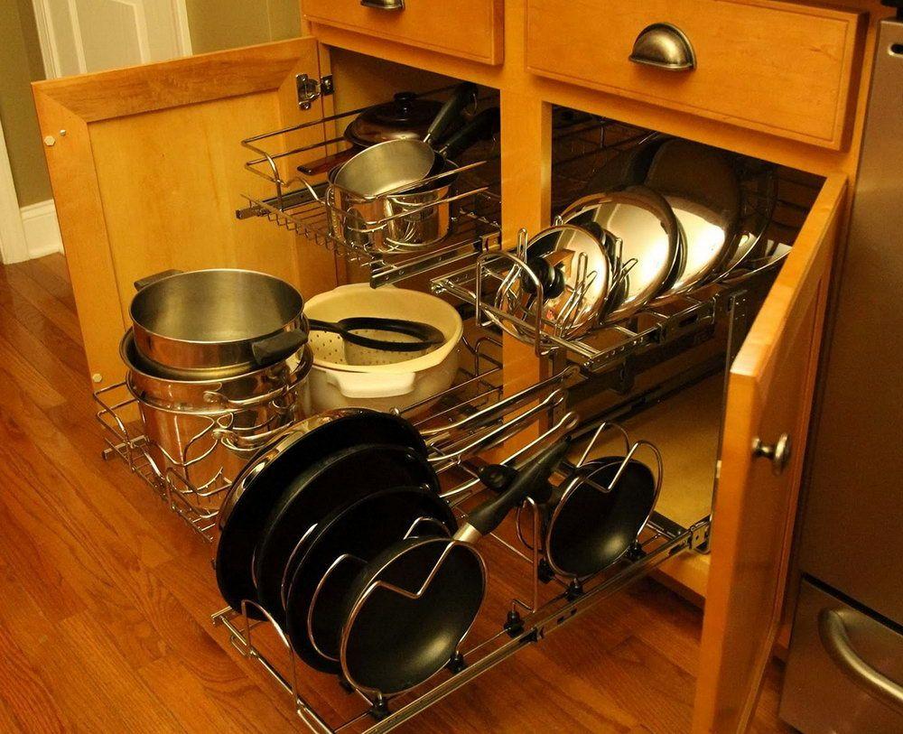 Pots And Pans Organizer Ideas Kitchen Organization Kitchen