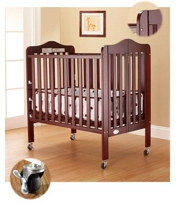 Click Image Above To Purchase: Orbelle Tina Three Level Portable Crib Cherry