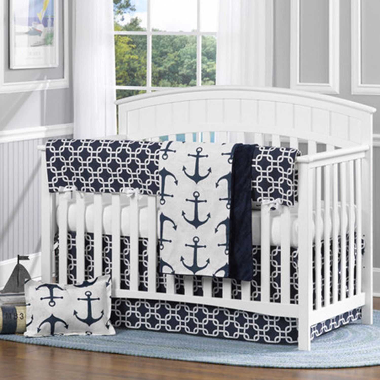 crib nautical the sweet perfect bedding cribs sheets pin