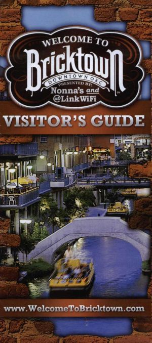 Bricktown Map Front Brochure Cover | Future travel | Bricktown ... on