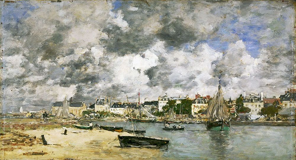 """Boudin Eugene - Louis View Of Trouville 1873 (from <a href=""""http://www.oldpainters.org/picture.php?/47185/category/15814""""></a>)"""
