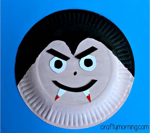 Make a fun paper plate v&ire craft for kids! Itu0027s a fun halloween art project & Make a fun paper plate vampire craft for kids! Itu0027s a fun halloween ...
