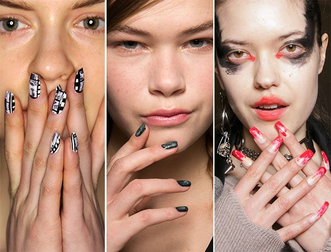 Below Are Some Of The Gest Fall Winter Nail Trends We Spotted On Fashion Week Runways