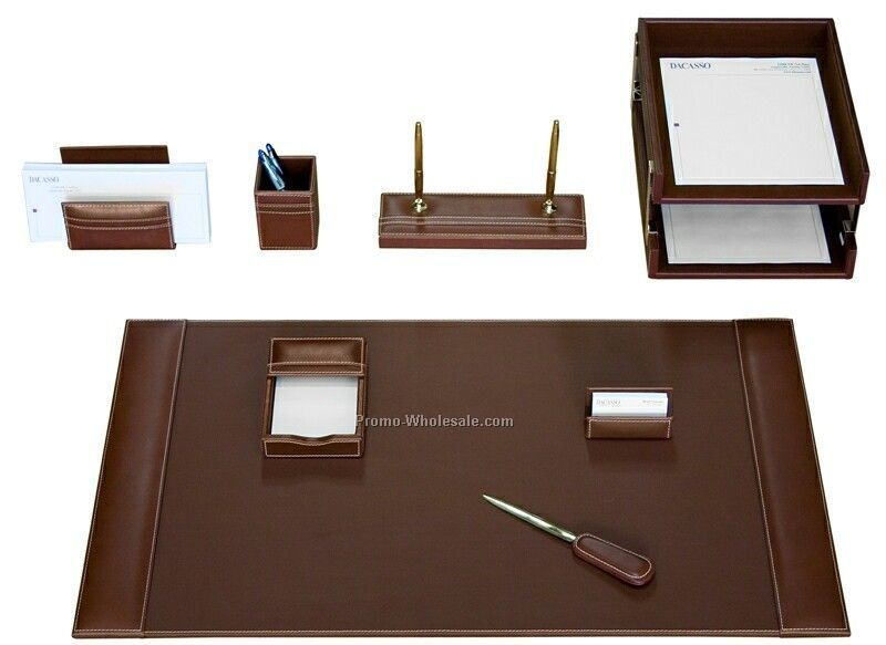 china custom wholesale piece classic black sets htm index leather desk set