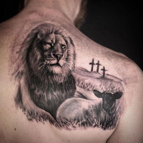 Best 30 Lion And Lamb Tattoo Design Ideas 2019 Tattoos Doc