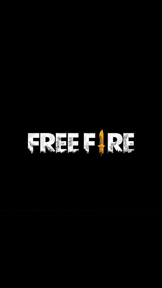 Free Fire Logo Dark Background,