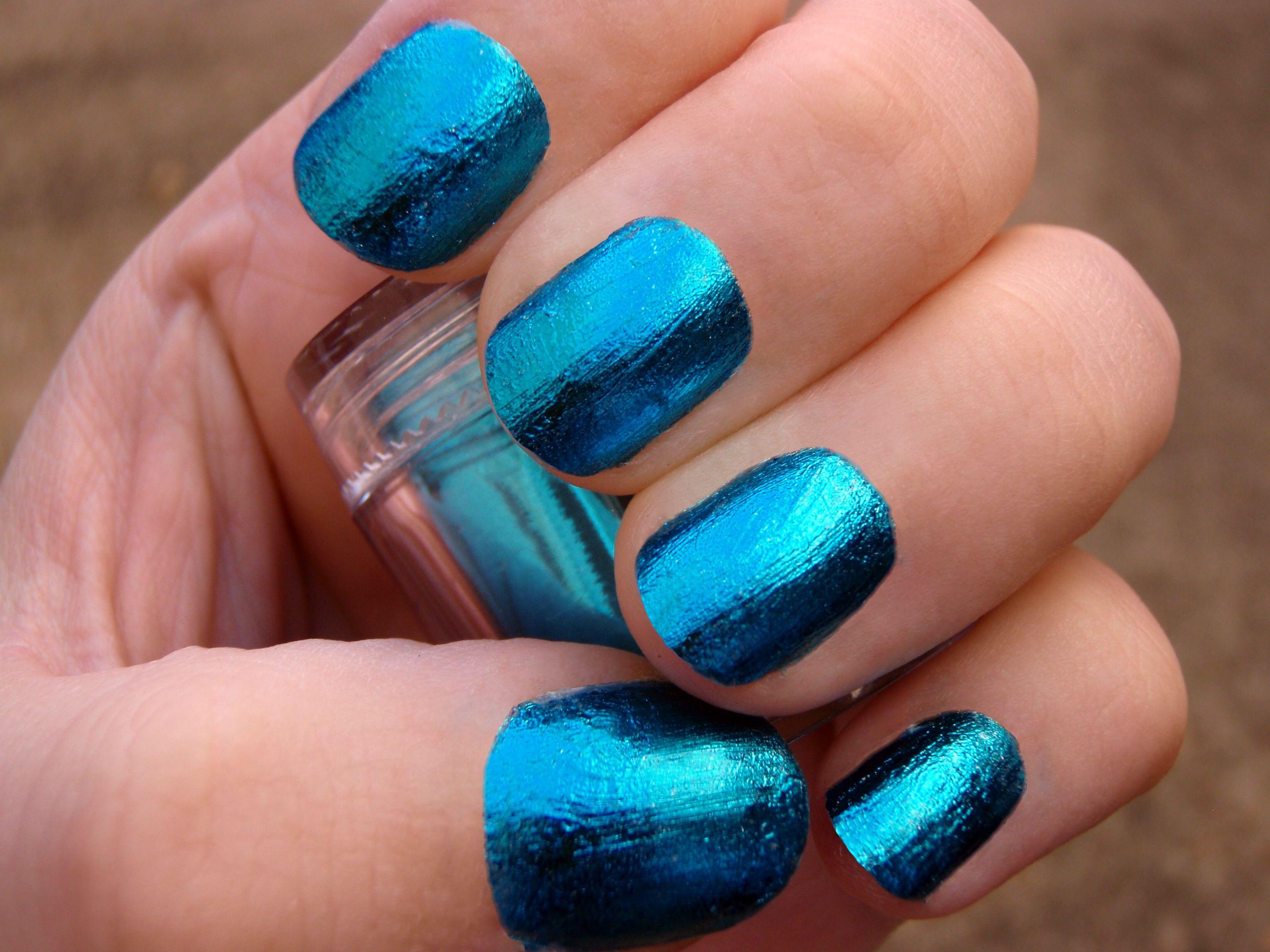 New Flow Nail Decorations nail foils in blue! | Nail Art | Pinterest ...