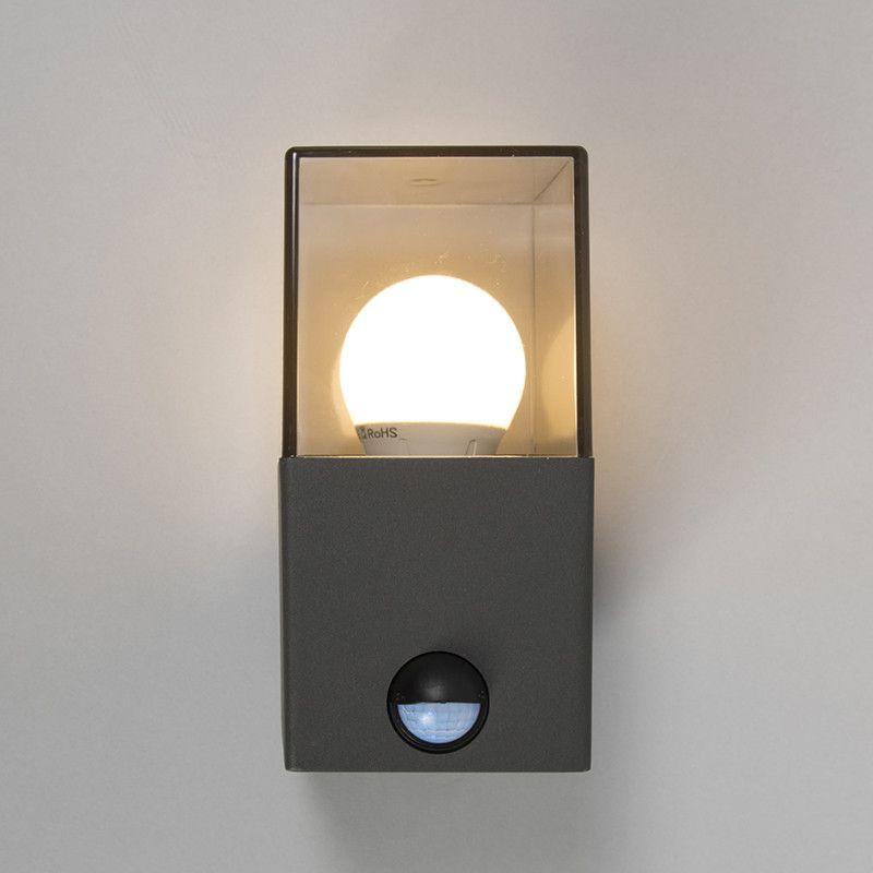Buitenlamp Denmark wand met bewegingsmelder donkergrijs lighting - hi tech acryl badewanne led einbauleuchten