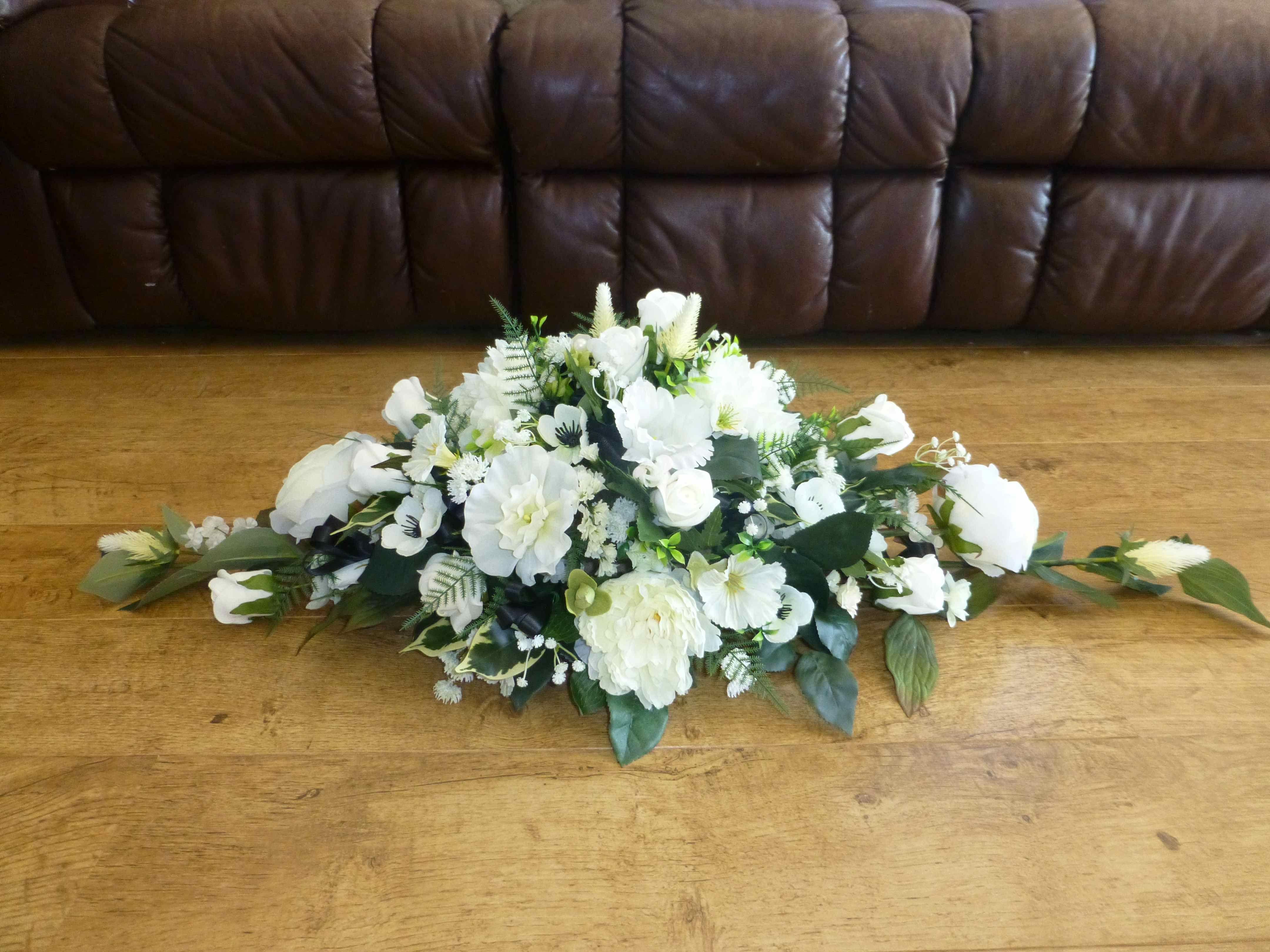 Artificial Flower Arrangement For Wedding Top Table Black White Hannah Ben Artificial Flower Arrangements Wedding Top Table Table Flowers