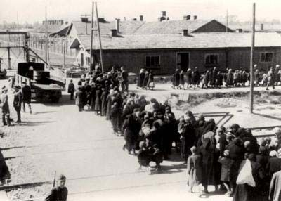 Auschwitz, Poland, Women Being Lead to the Gas Chambers