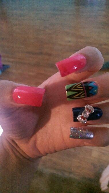 Spring acrylic nails