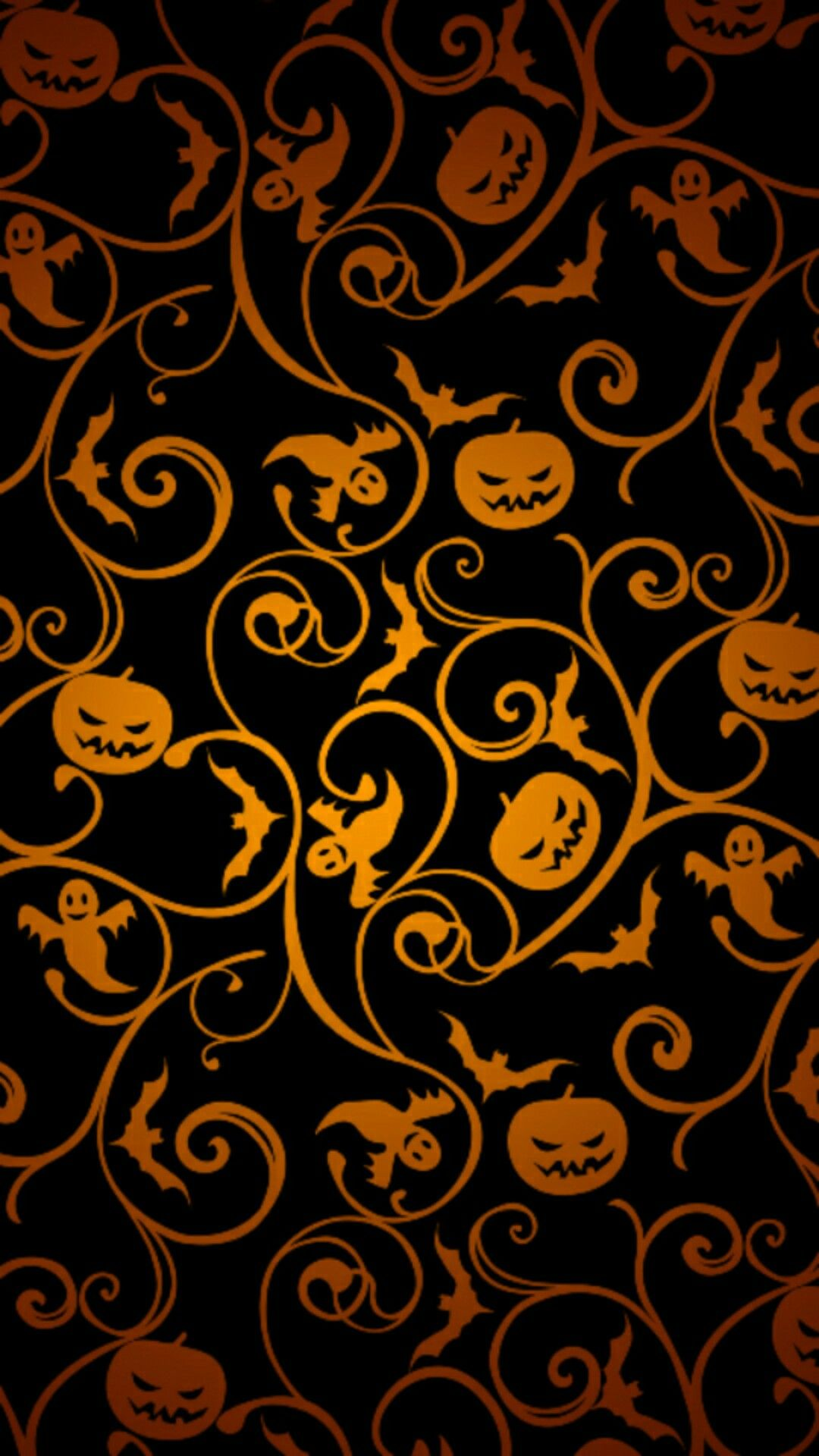 Halloween Pumpkin Vines Ghosts Bats Cellphone Wallpaper Locks Screen Halloween Wallpaper Iphone Halloween Wallpaper Pretty Wallpapers