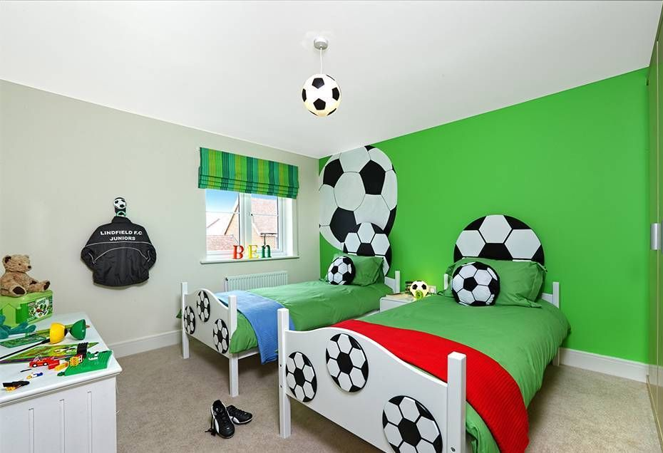 Football Themed Bedroom Mesmerizing Sports Themed Bedrooms Football Theme With Football Wallpaper And Decorating Design
