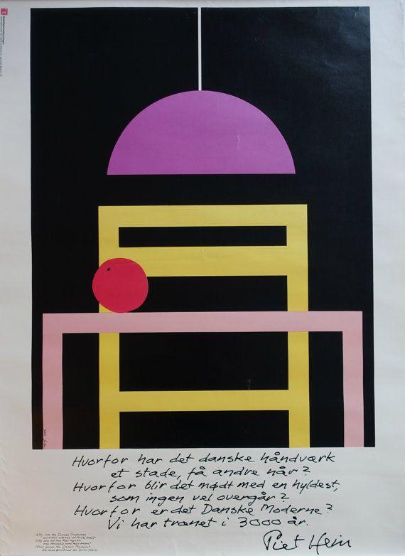 1986 A Tribute To Danish Furniture Design I Original Vintage Poster