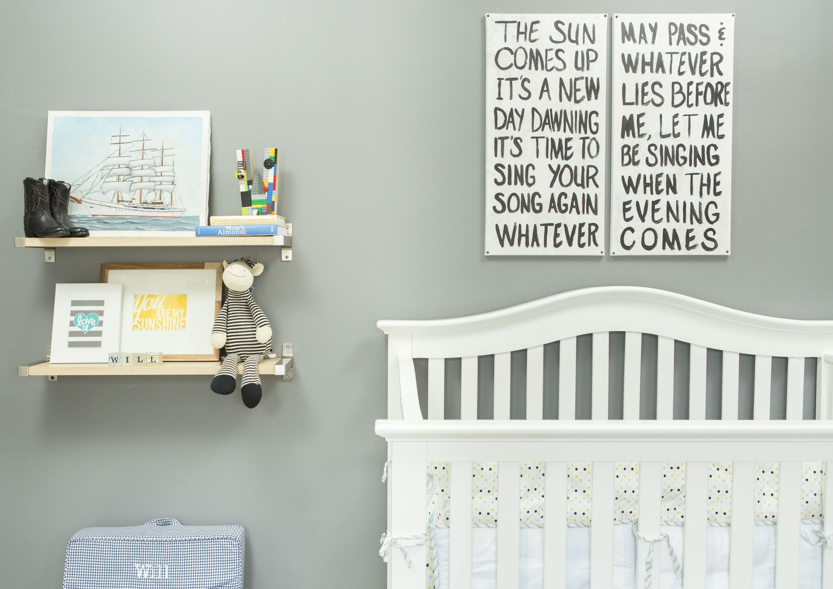 A Nursery in Lights and Darks (With images) | Boys room ...