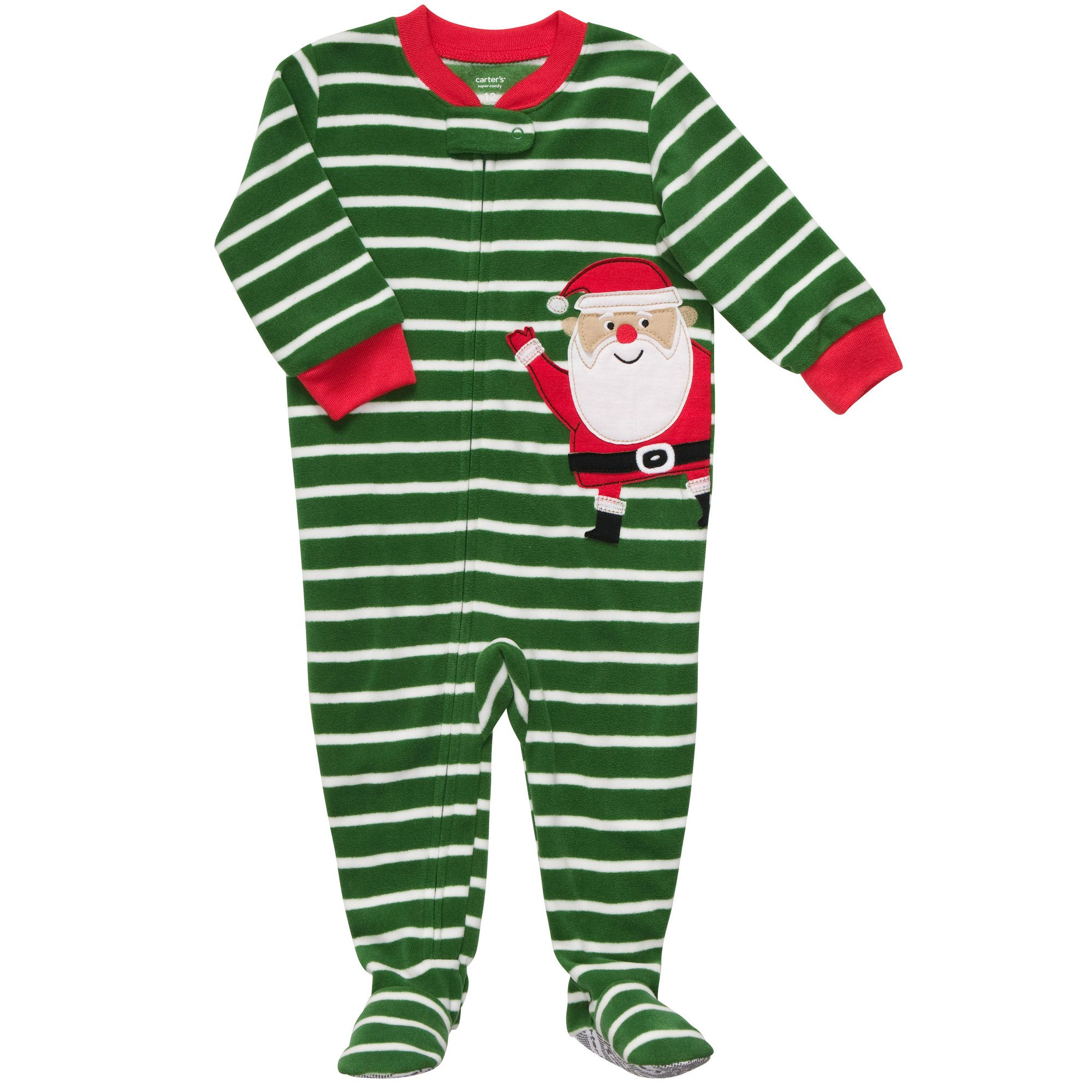 1Piece Microfleece Pj's Holiday Shop Pajamas (With