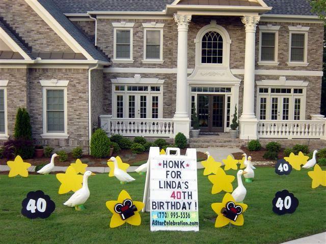 Honk Birthday Lawn Sign