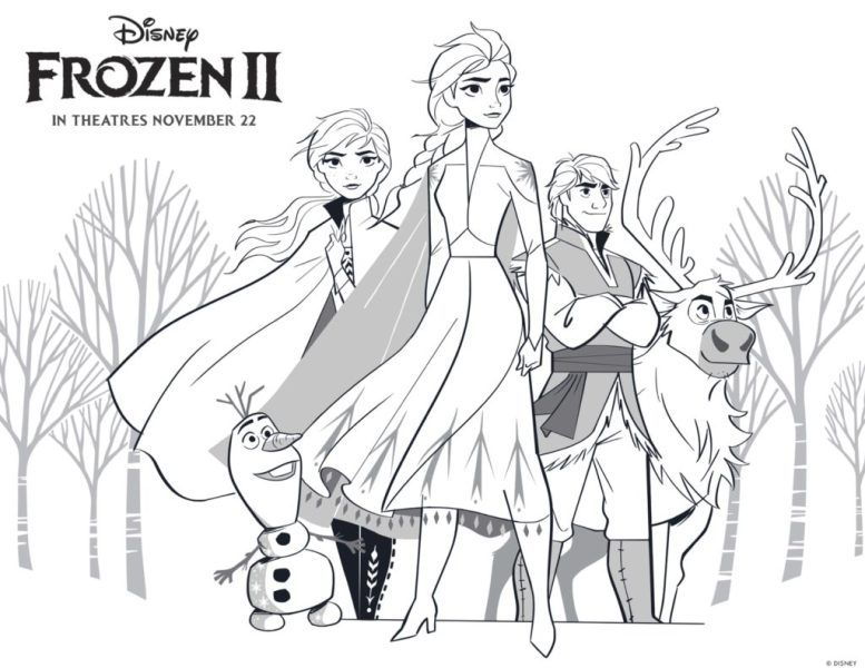 Free Frozen 2 Printable Coloring Pages And Activities Frozen