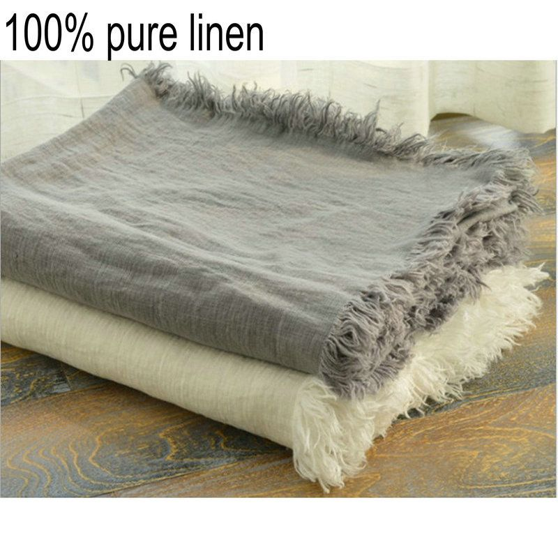 Find More Blankets Information About French Linen Blanket Rug Summer Cool  Quilt Washed Bed Linen Blankets