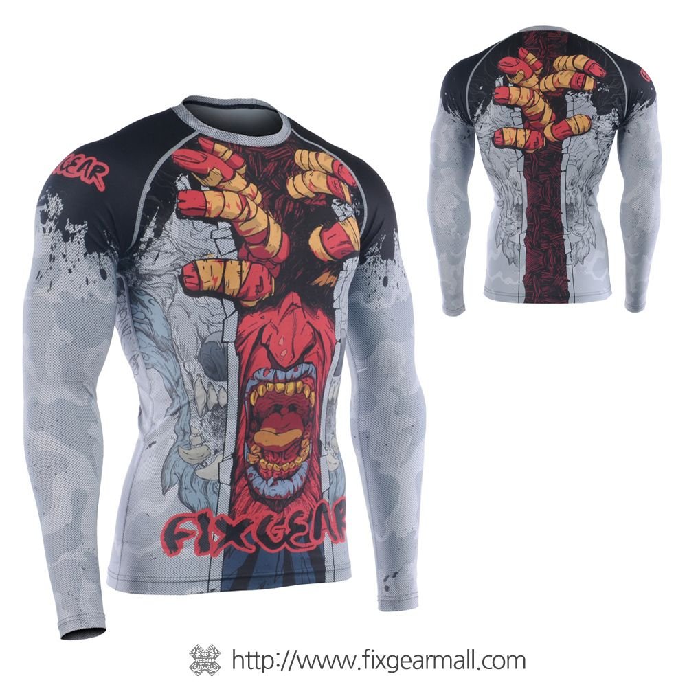 FIXGEAR CFS-19R Compression Base Layer Short Sleeve Shirts Workout Fitness MMA