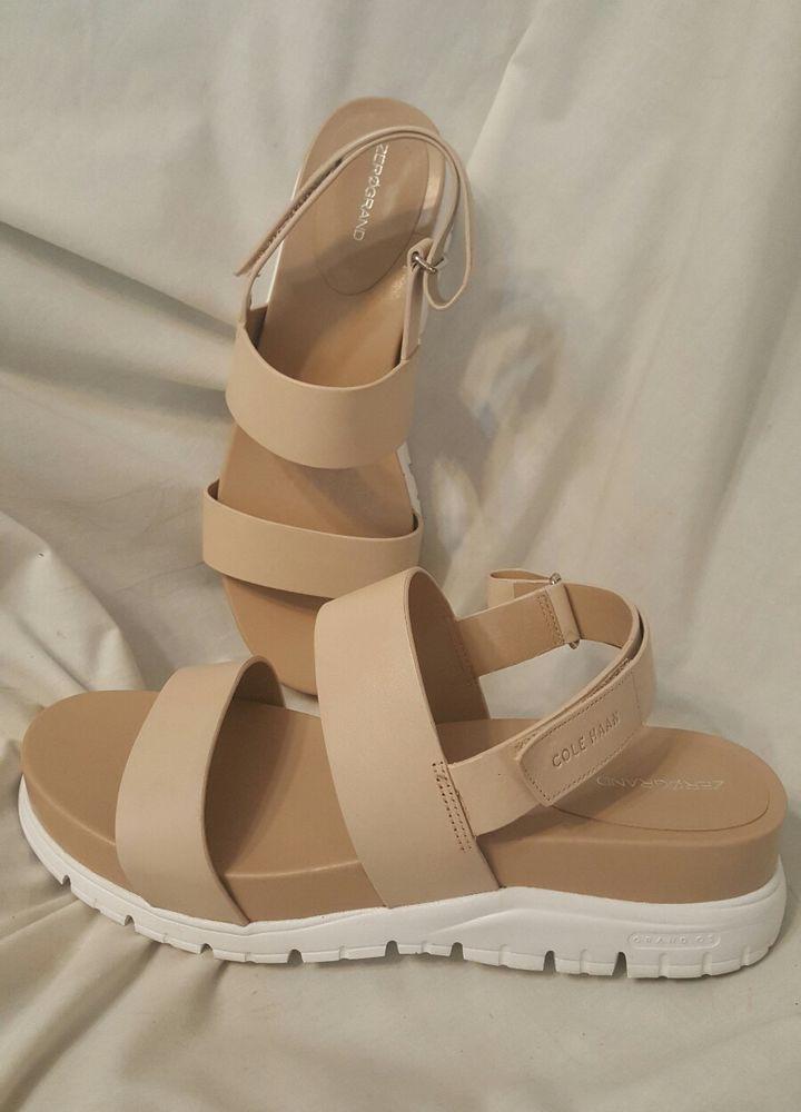 7467feda940 Cole Haan womens shoes sz 9.5 B zerogrand slide sandals Sandshell beige   ColeHaan  PlatformsWedges SOLD