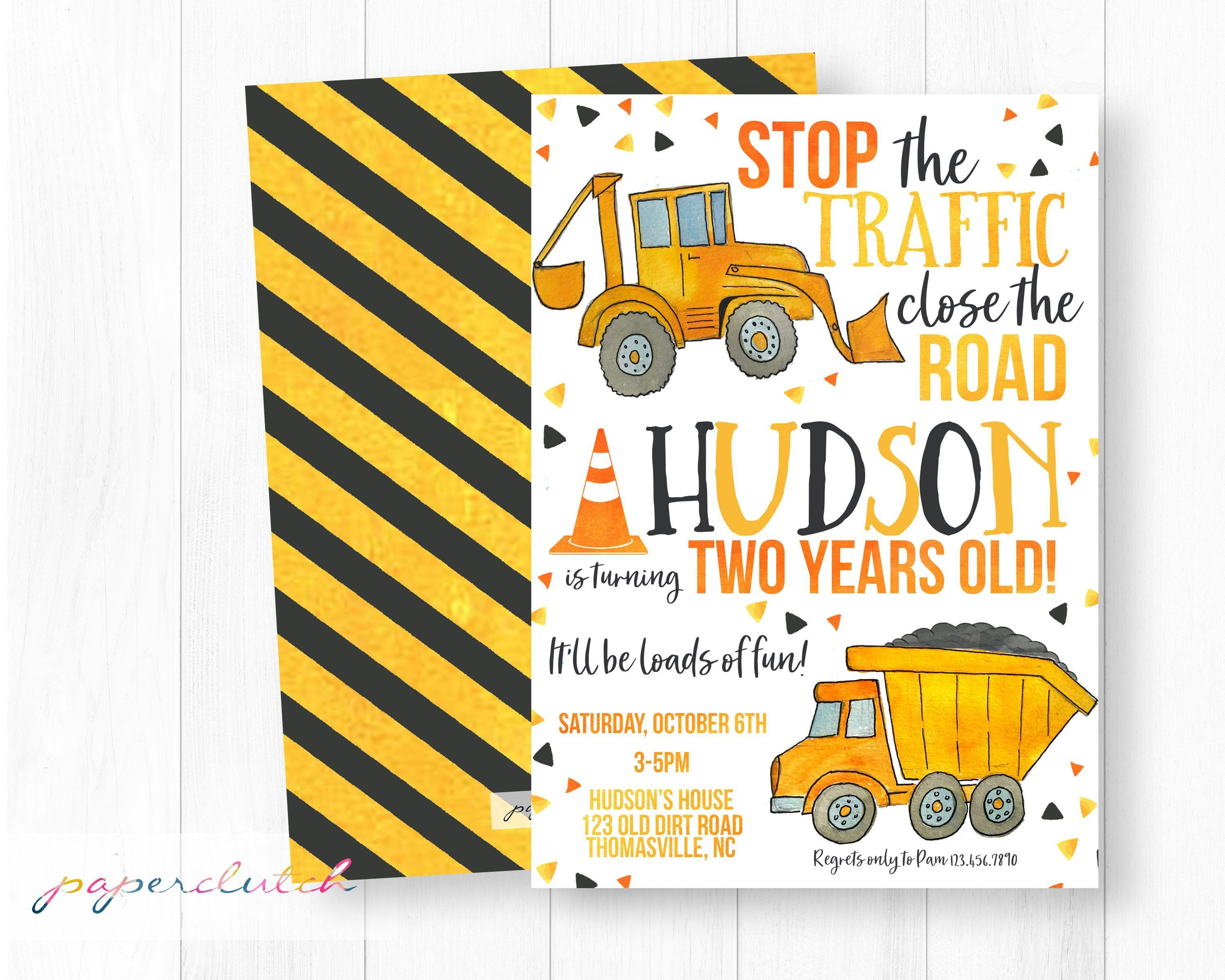 Construction Birthday Invitations Construction Birthday Party Yellow Du Construction Theme Birthday Party Construction Birthday Construction Birthday Parties