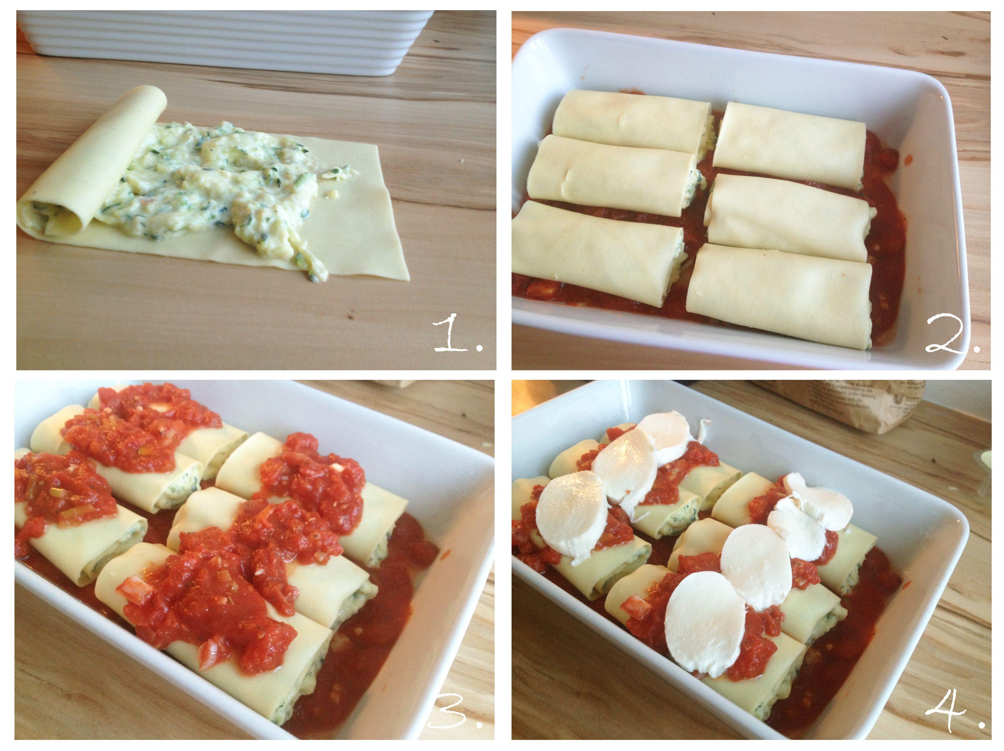 Anleitung Zucchini Lasagne