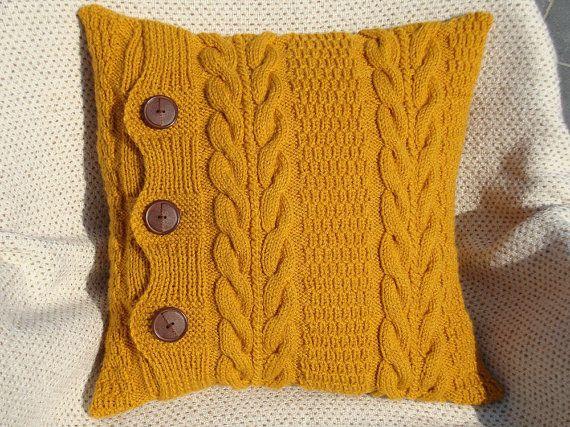 mustard yellow pillow case set throw