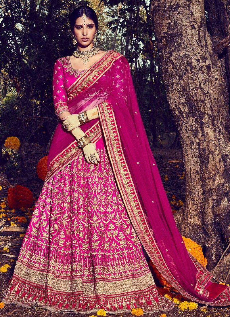 6553c6cc66 Magenta Embroidered Bridal Lehenga | Wedding in 2019 | Bridal ...