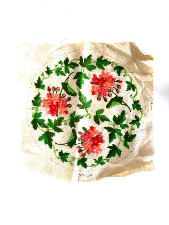 Vintage crewel / embroidery by vintagelinensplus on Etsy